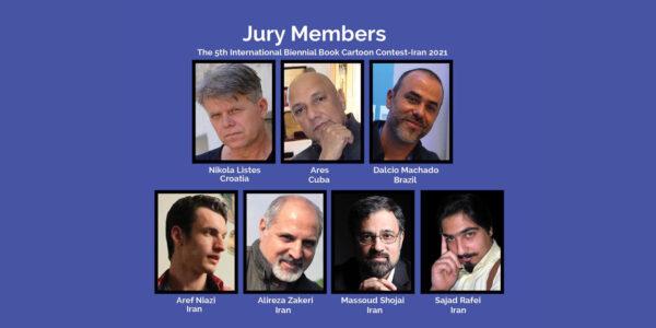 The 5th International Biennial Book Cartoon Contest Jury Members